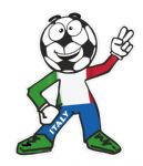 Novelty FOOTBALL HEAD MAN With Italy Italian il Tricolore Flag Motif For Football Soccer Team Supporter Vinyl Car Sticker 100x85mm